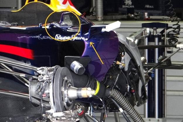 Red Bull sidepod detail