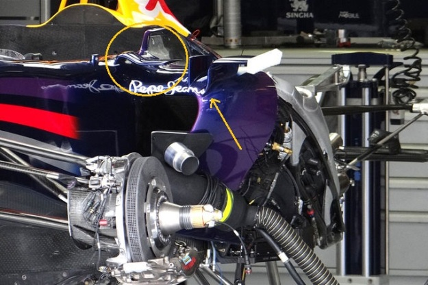 Red Bull sidepod detail