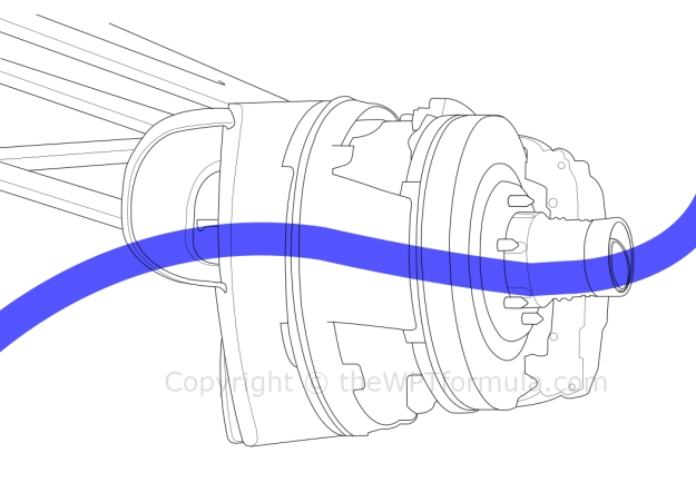 Ferrari briefly used another iteration of their blown wheelnut in China