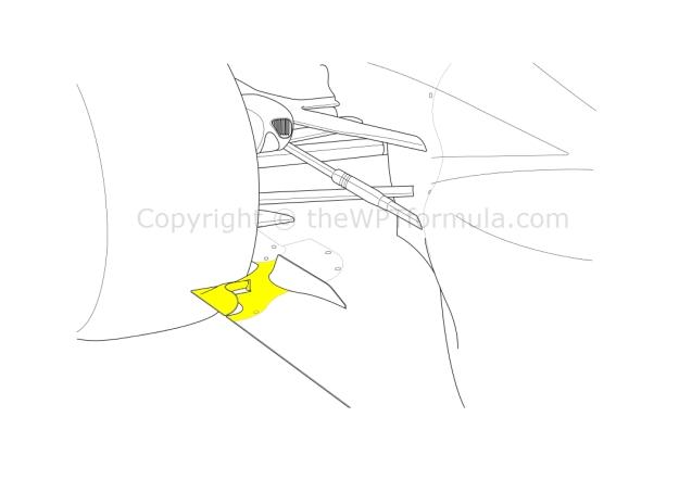 McLaren tyre squirt slot