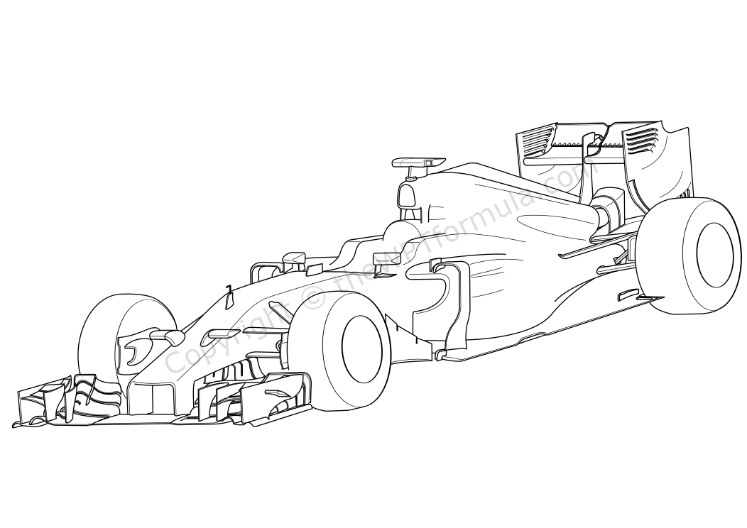 f1 cars drawings easy